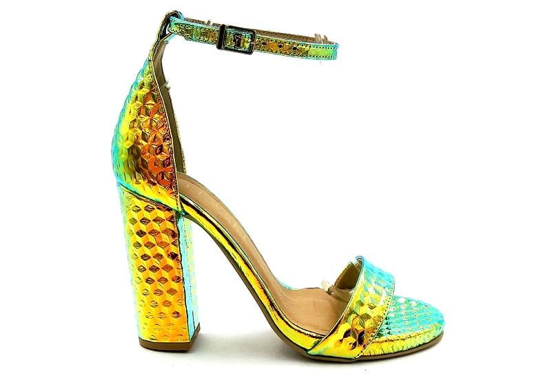 Piękne sandały na słupku kameleon Lewski 2661